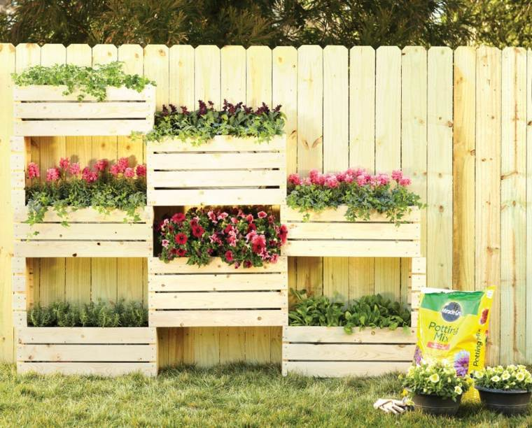 vertical gardens in boxes