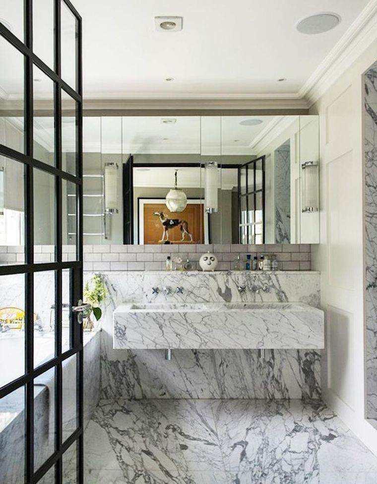 diseño de baño de mármol