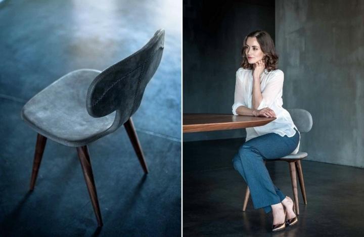 acabados modernos silla madera