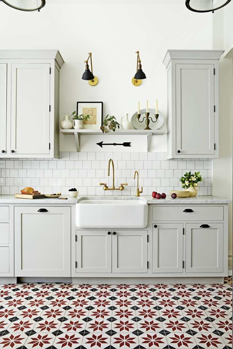 antigüedades rústicas-muebles-rusticos-ideas-cocina-lavabo