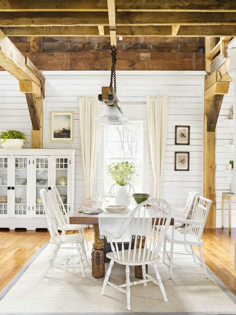 antigüedades rústicas-muebles-rusticos-ideas-comedor-blanco