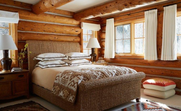 antigüedades rústicas-muebles-rusticos-ideas-dormitorio-cama