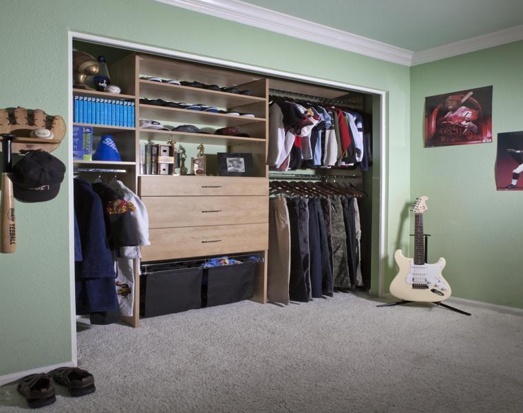 ideas para organizar un armario vestidor