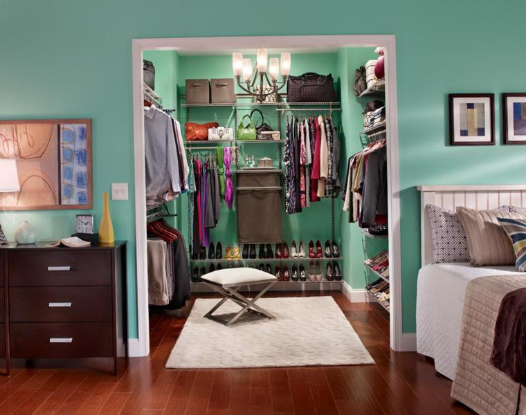 vestidor color verde