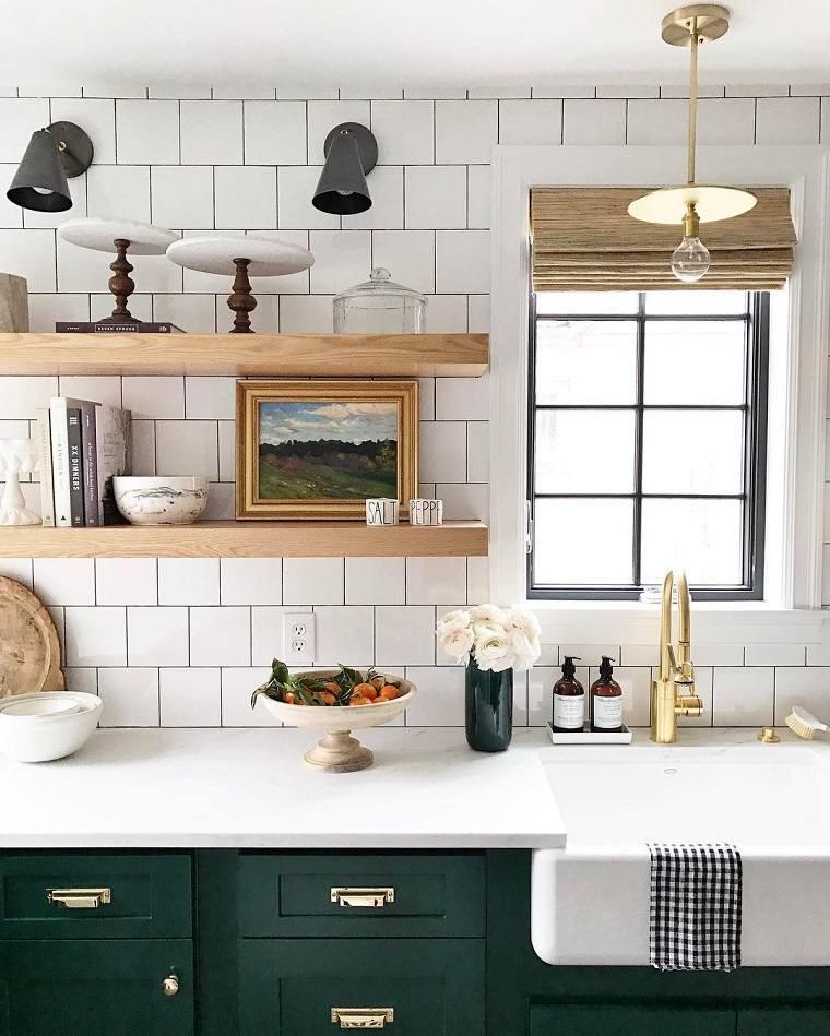 Cocinas modernas de color blanco