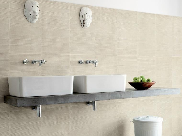 azulejos para cuartos de baño-opciones-clasicas-pared
