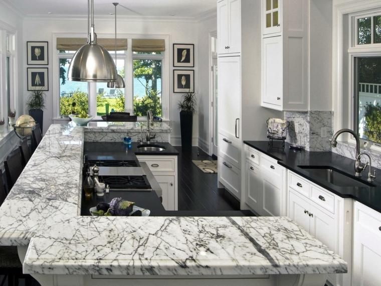 bellas encimeras marmol moderno