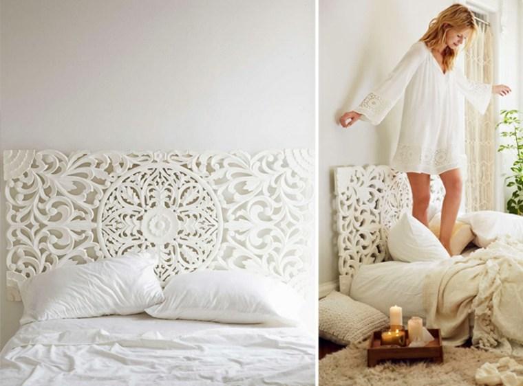 cabecero de cama romantico