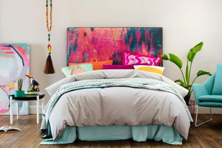 Cabecero de cama original y moderno ideas y dise os que - Cabezales de tela ...