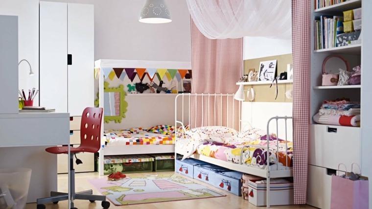 Habitaciones compartidas infantiles para 3, 4 o más niños -