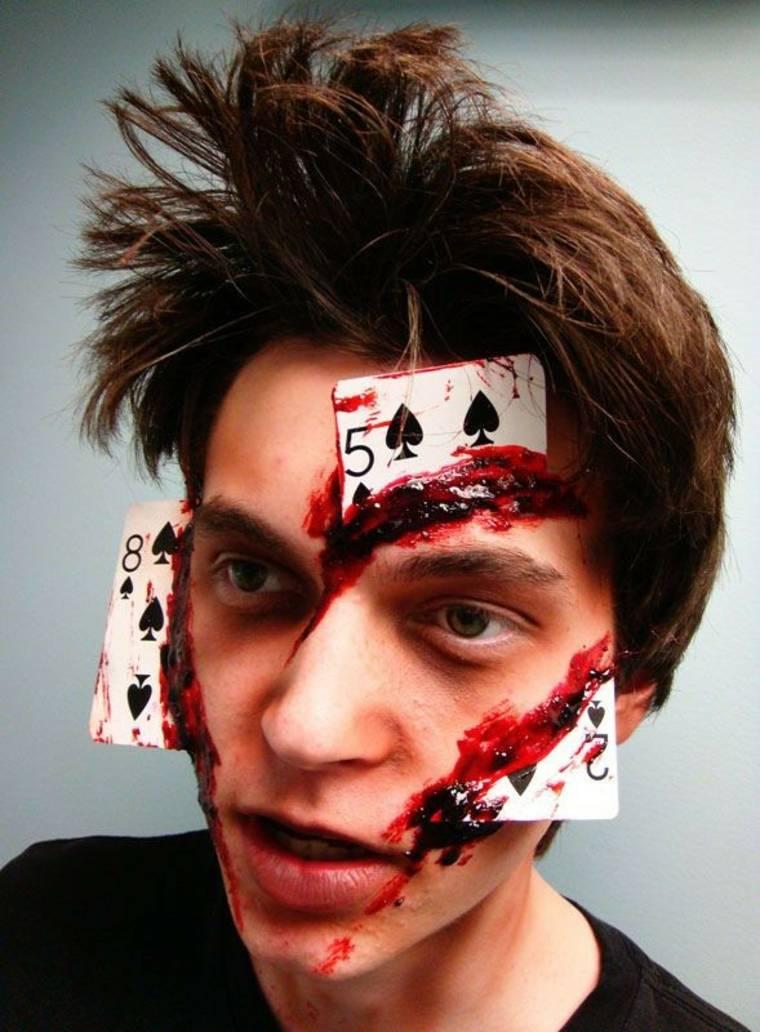 disfraz y maquillaje para Halloween