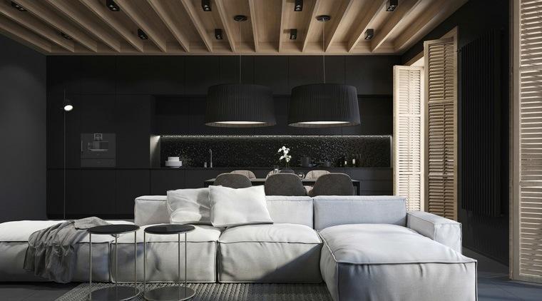 casa-moderna-salon-cocina-negro
