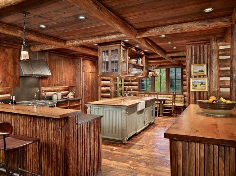 cocina-amplia-diseno-estilo-rustico-varias-islas