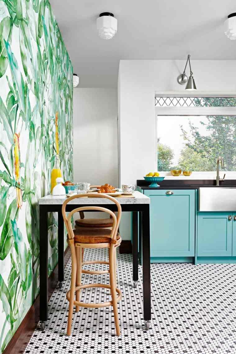 cocina-colores-papel-pared-losas-estilo