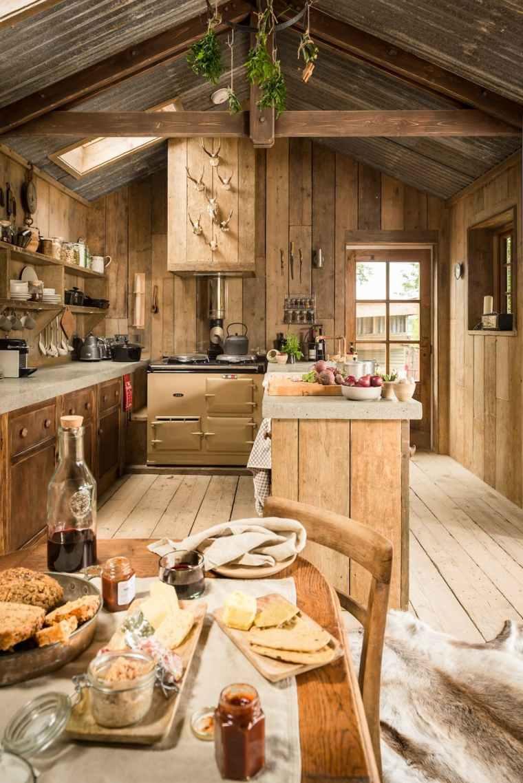 Cocinas rsticas 30 fotos originales para crear un espacio natural