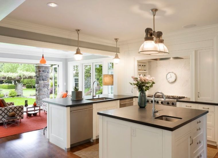 Cocina de granito negro 69 fotos inspiradoras de for Encimeras pequenas