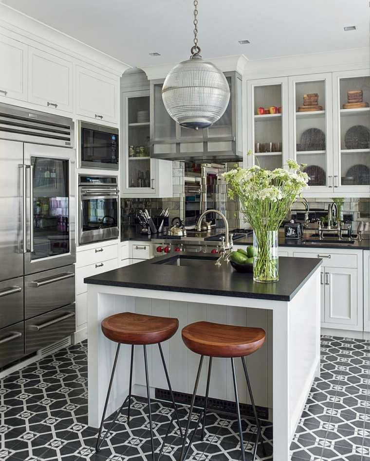 Cocina de granito negro 69 fotos inspiradoras de for Elemento de cocina negro