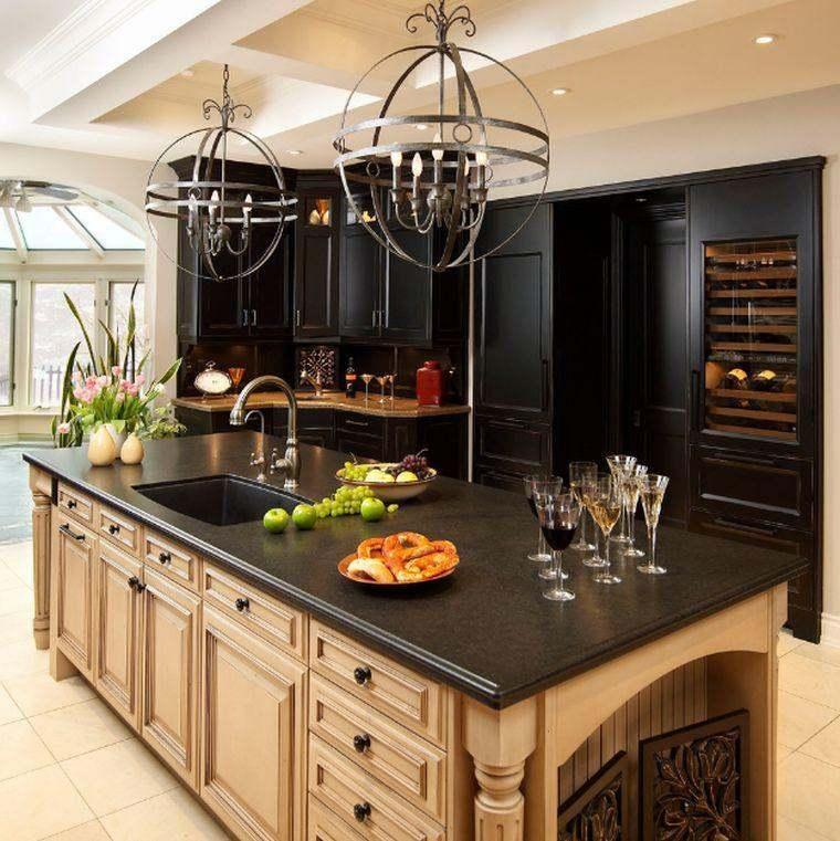 cocina-de-granito-negro-isla-estilo