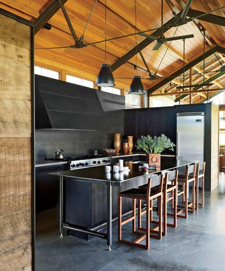 cocina-de-granito-negro-opciones-lujo-diseno