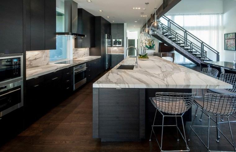 Encimeras cocina 66 ideas incre bles de encimeras de - Como cortar marmol encimera ...