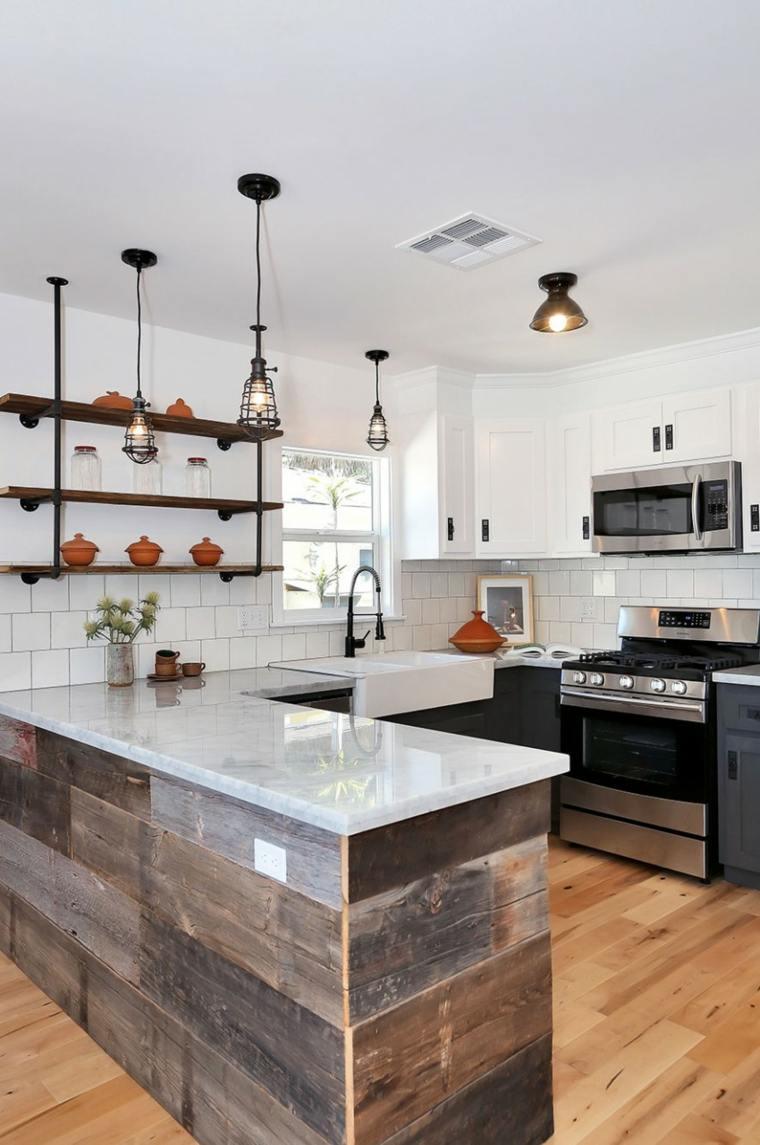 cocina-diseno-Kenihan-Development-marmol-carrara-madera-combinacion