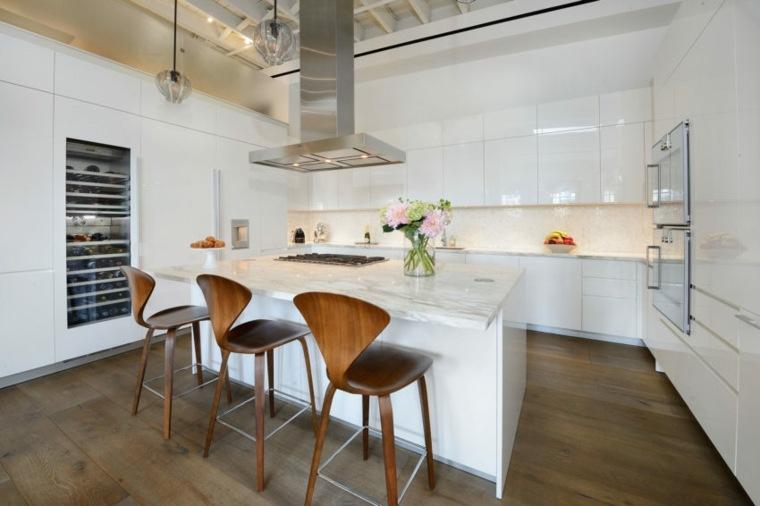 cocina-diseno-Turett-Collaborative-Architects-isla-marmol