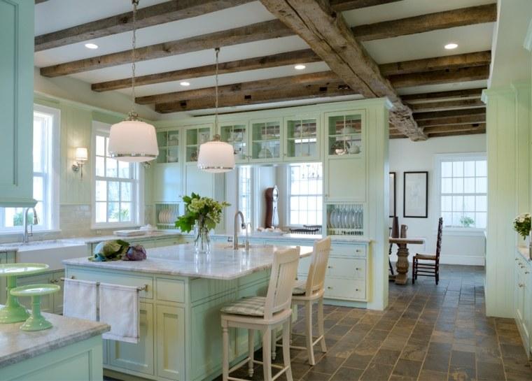 cocina-diseno-color-moderno-verde-encimeras-marmol