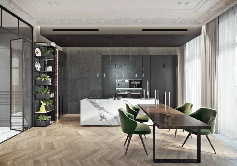 cocina-isla-mesa-diseno-marmol-madera-combinacion