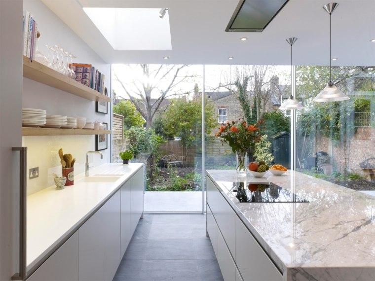 Mármol de Carrara en la cocina