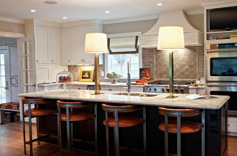 cocina-lamaparas-isla-espectacular-diseno-Barbour-Spangle-Design