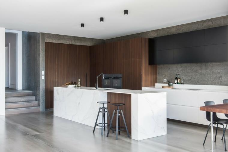 cocina-madera-marmol-combinacion-Minosa-Design