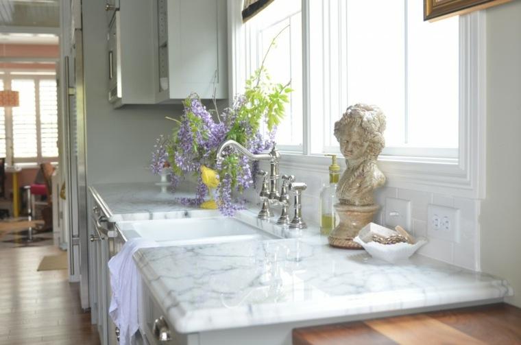 M 225 Rmol De Carrara En La Cocina Ideas De Dise 241 O Para