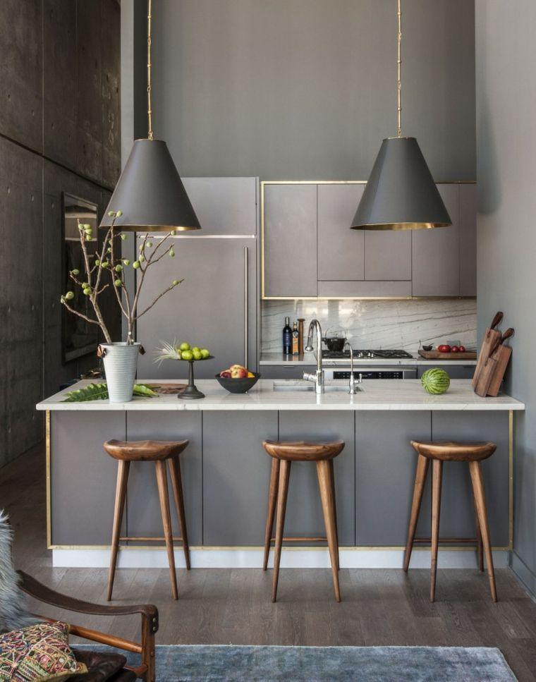 encimeras cocina-pequena-glamurosa-encimeras-marmol-estilo