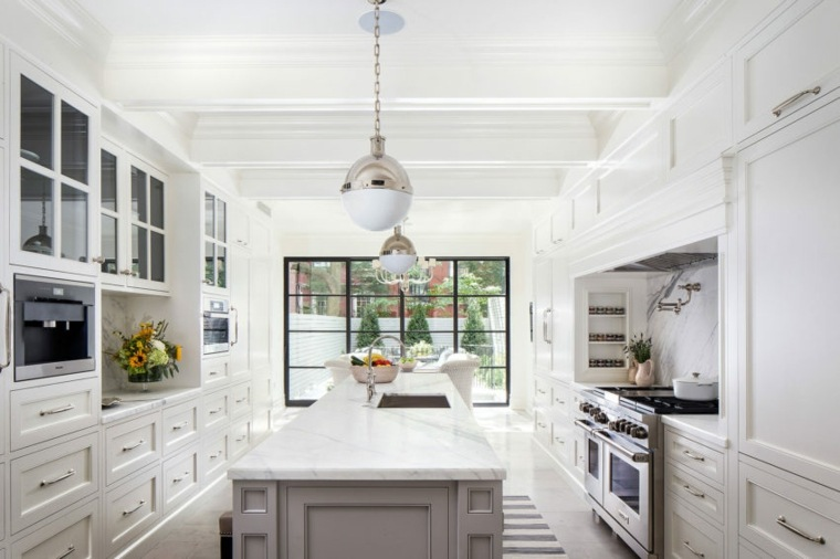 encimeras cocina pequena-isla-encimera-marmol-diseno