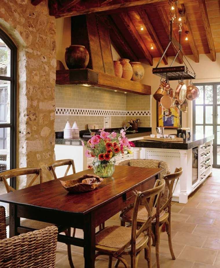 cocina-rustica-diseno-linda-warren-associates-ltd