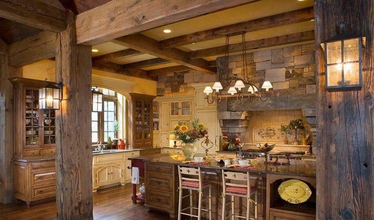 cocina-rustica-diseno-original-combinacion-madera-piedra