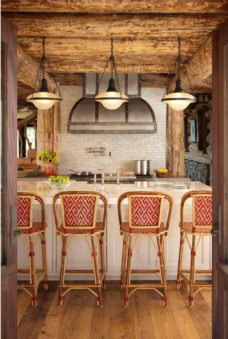cocinas rústicas-opciones-estilo-moderno