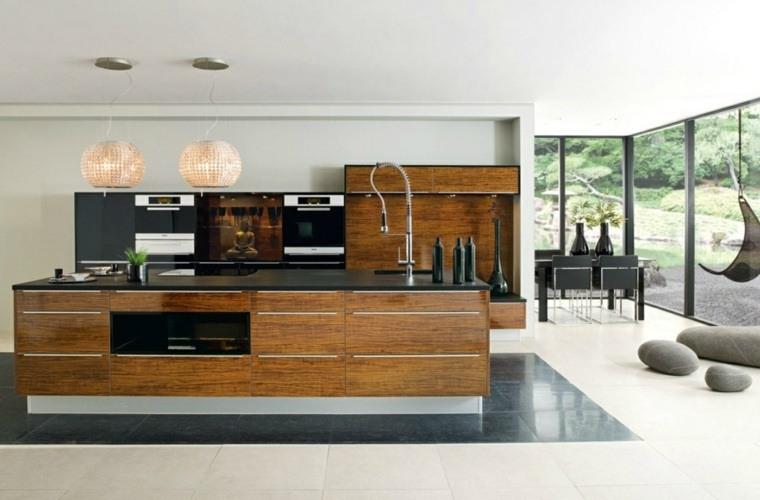 cocina de granito negro-diseno-estilo-muebles-madera