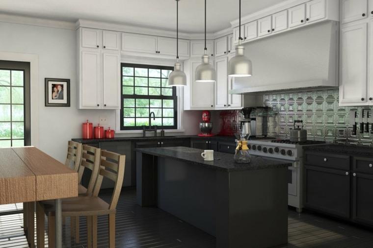 cocinas de granito negro-diseno-estilo-originalidad