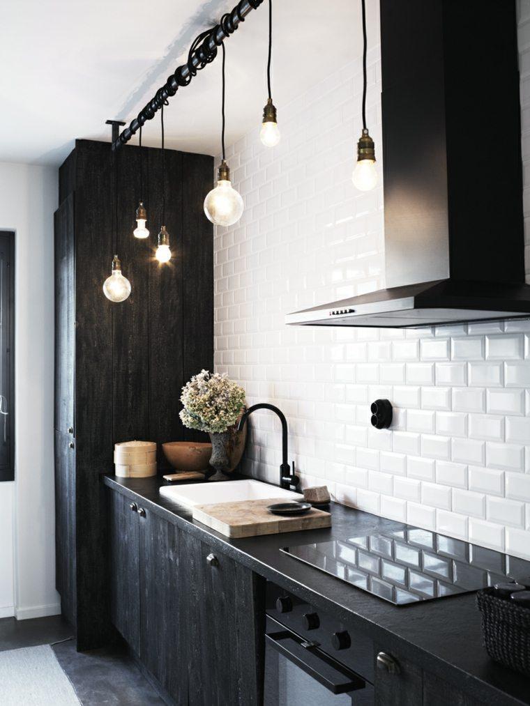cocinas de granito negro-diseno-idustrial