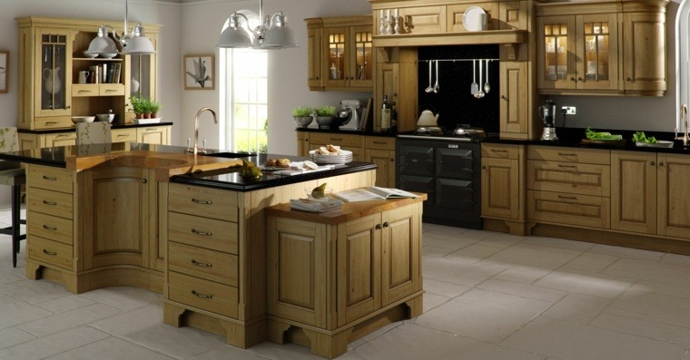 cocinas de granito negro-diseno-tradicional