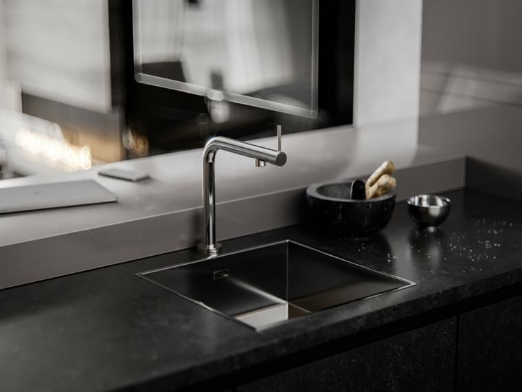 cocinas-de-granito-negro-estilo-lavabo