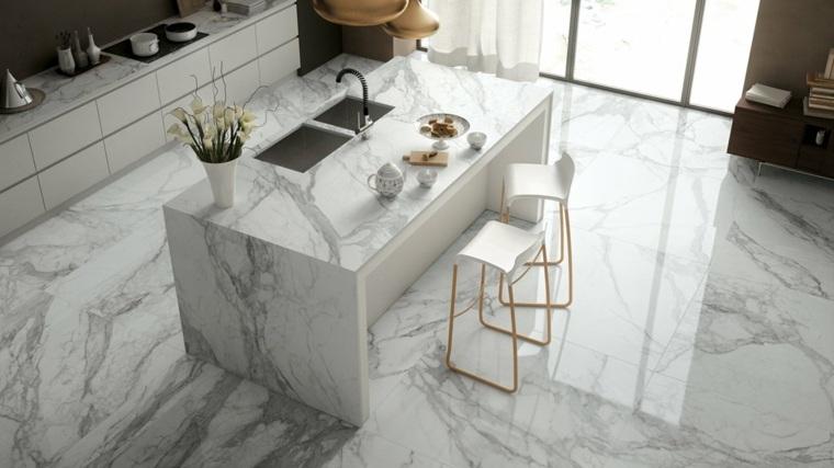 Encimeras cocina 66 ideas incre bles de encimeras de - Disenos en marmol ...