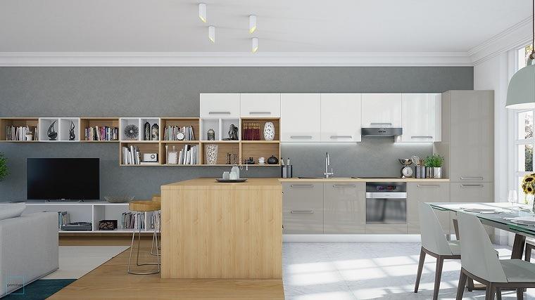 cocinas modernas blancas y grises diseno-espacios-abiertos