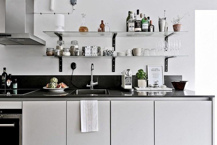 cocinas modernas blancas y grises-encimeras-cristal