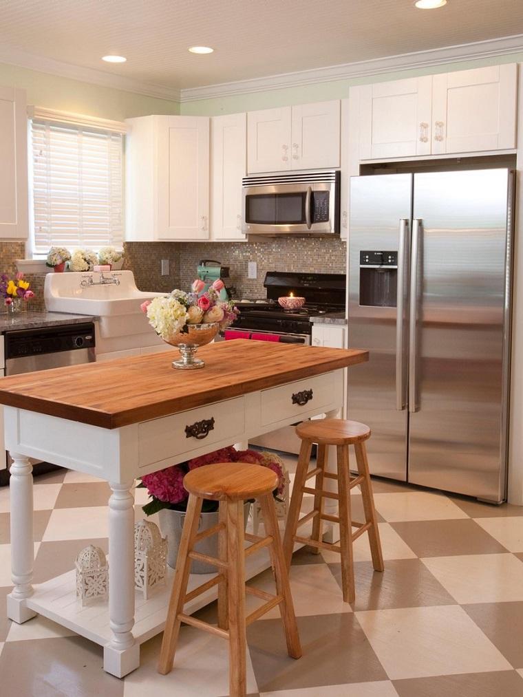 Cocinas peque as con isla 20 ideas en fotos y consejos for Cocinas con isla