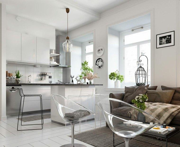 cocinas-pequenas-con-isla-opciones-piso-loft-pequeno
