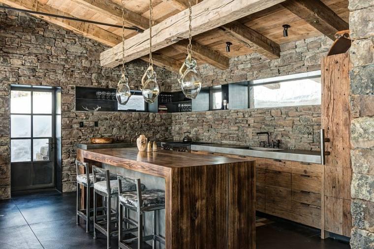 cocinas piedra natural cabaña fresca