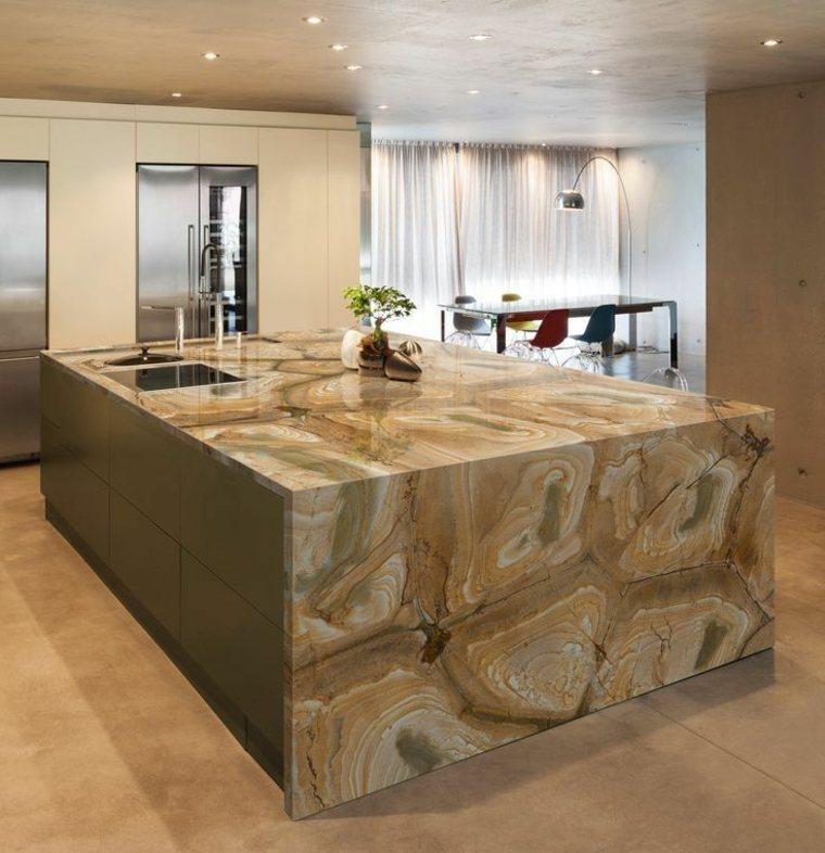 Cocinas piedra natural y sus ventajas en los dise os - Muebles de piedra ...
