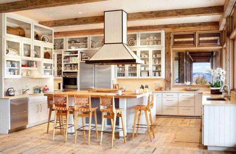 cocinas rústicas-fotos-casa-amplia-luminosa